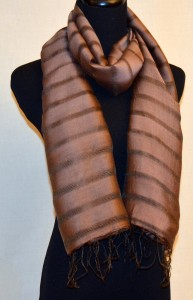 Chocolate Silk Scarf